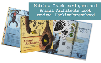 Match a Track card game and Animal Architects book review- HackingParenthood
