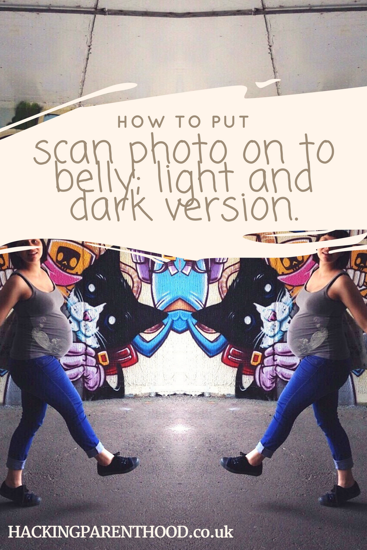 How-to-put-a-baby-scan-photo-on-belly-light-and-dark-version