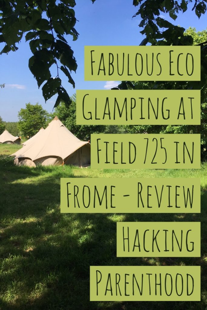 Fabulous Eco Glamping At Field 725 in Frome, read about my stay glamping in tents in Frome.